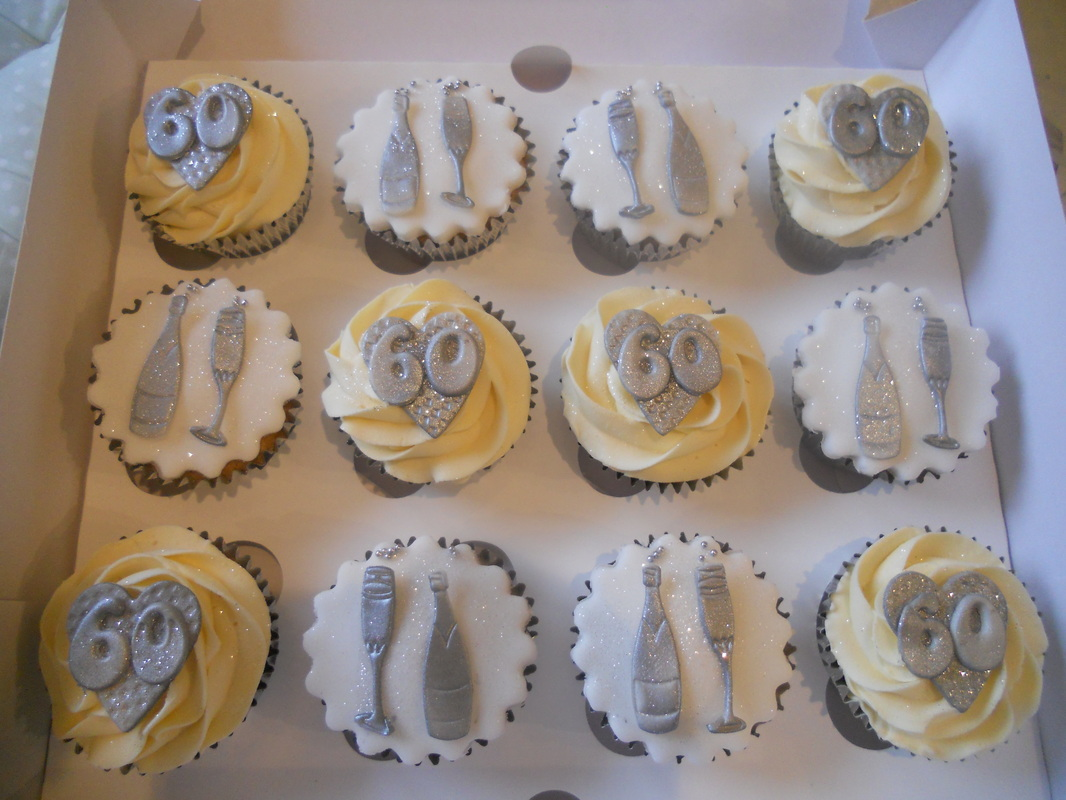 60th Birthday Cupcake Cake Ideas and Designs