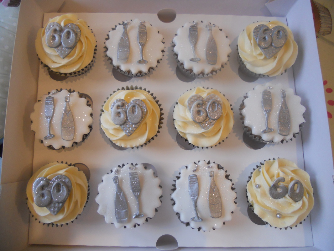 60th Birthday cupcakes - Tracy s T-Cakes