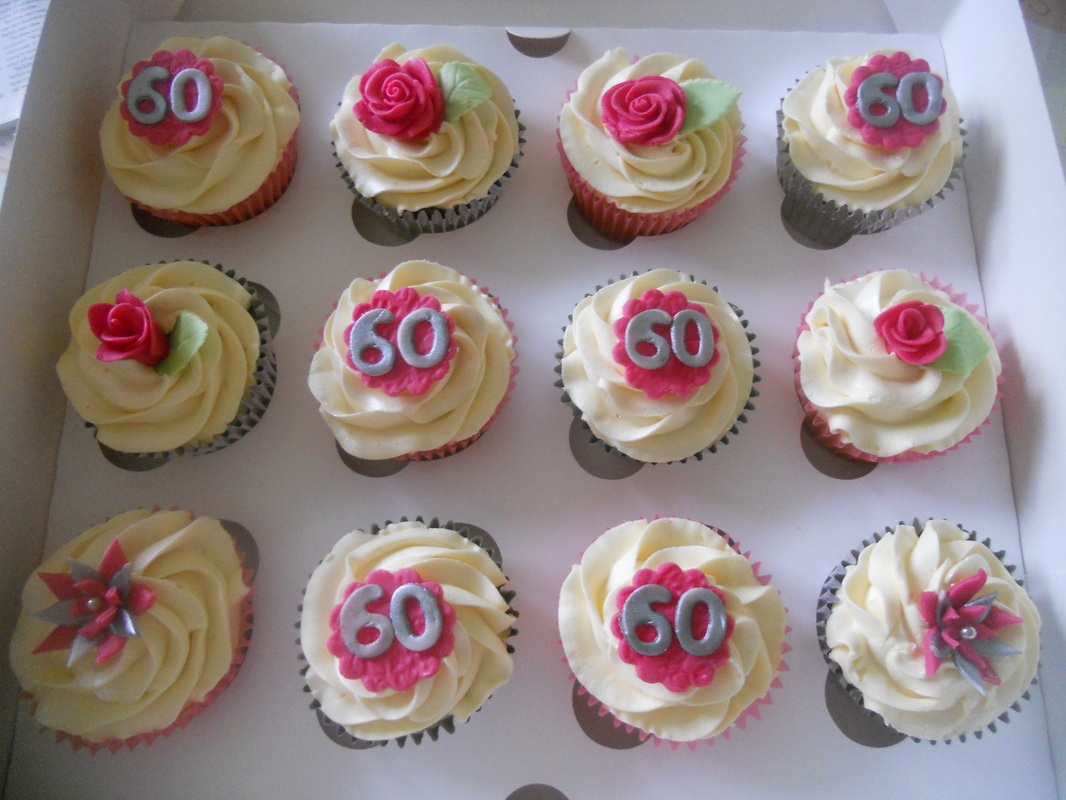 60th Birthday Cupcakes