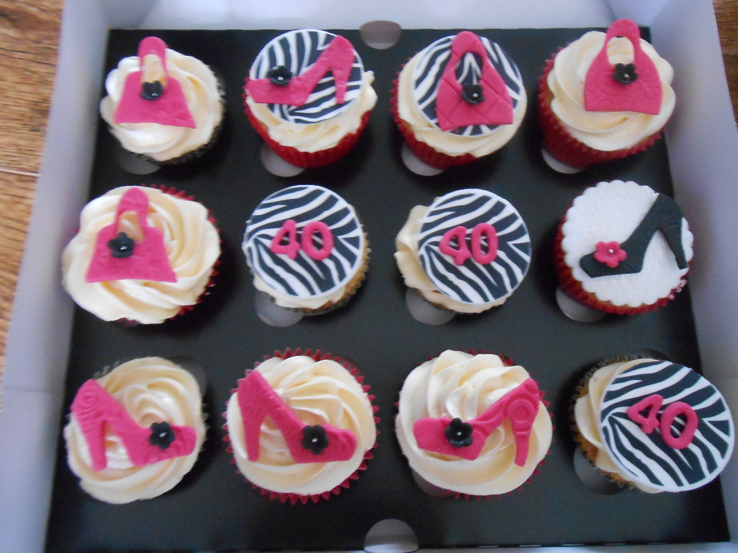 40th Birthday Cupcakes Cake Ideas And Designs